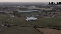 World's Longest Aircraft - The Airlander 10 - Makes Maiden Voyage