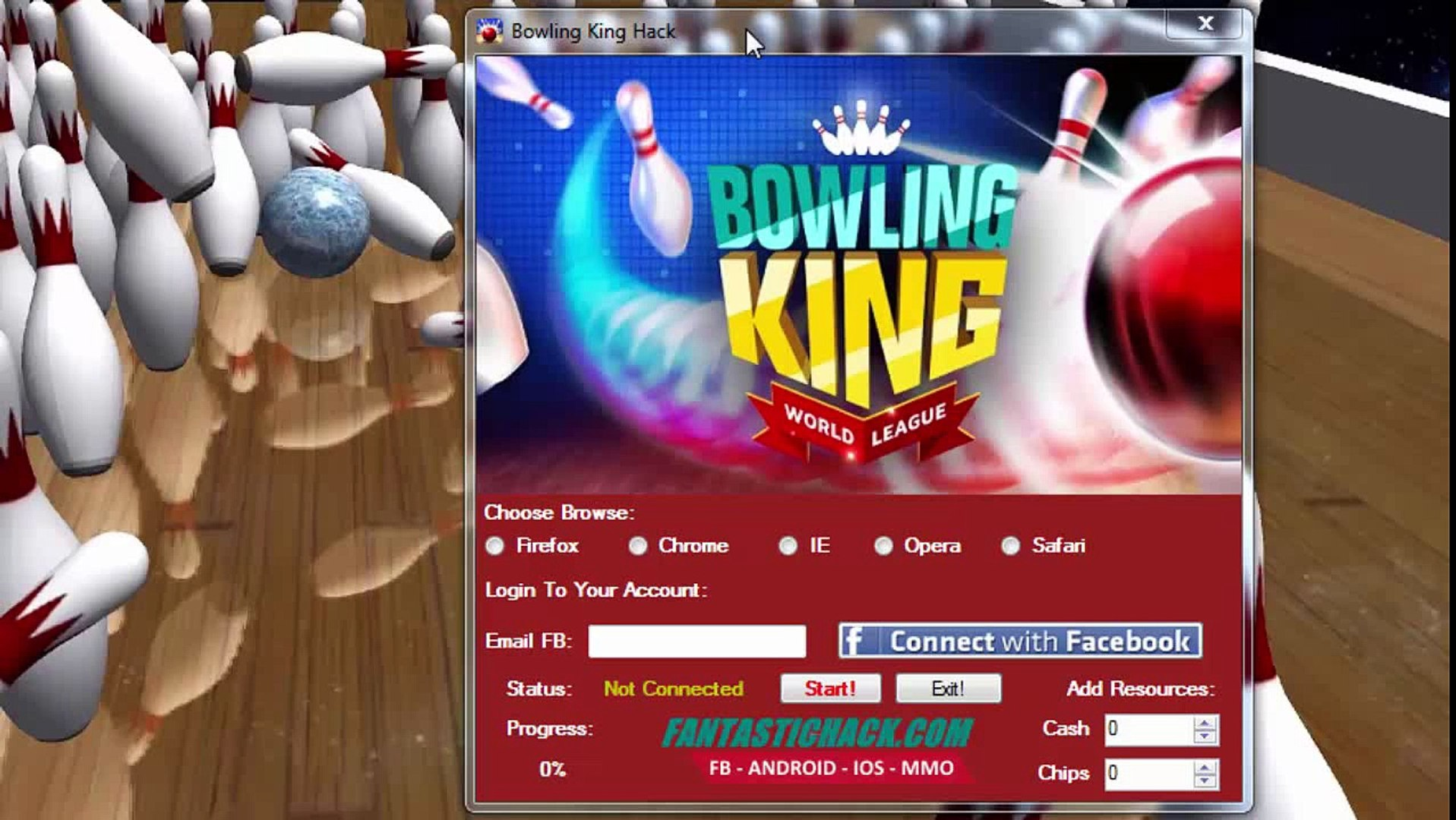 how to hack bowling king