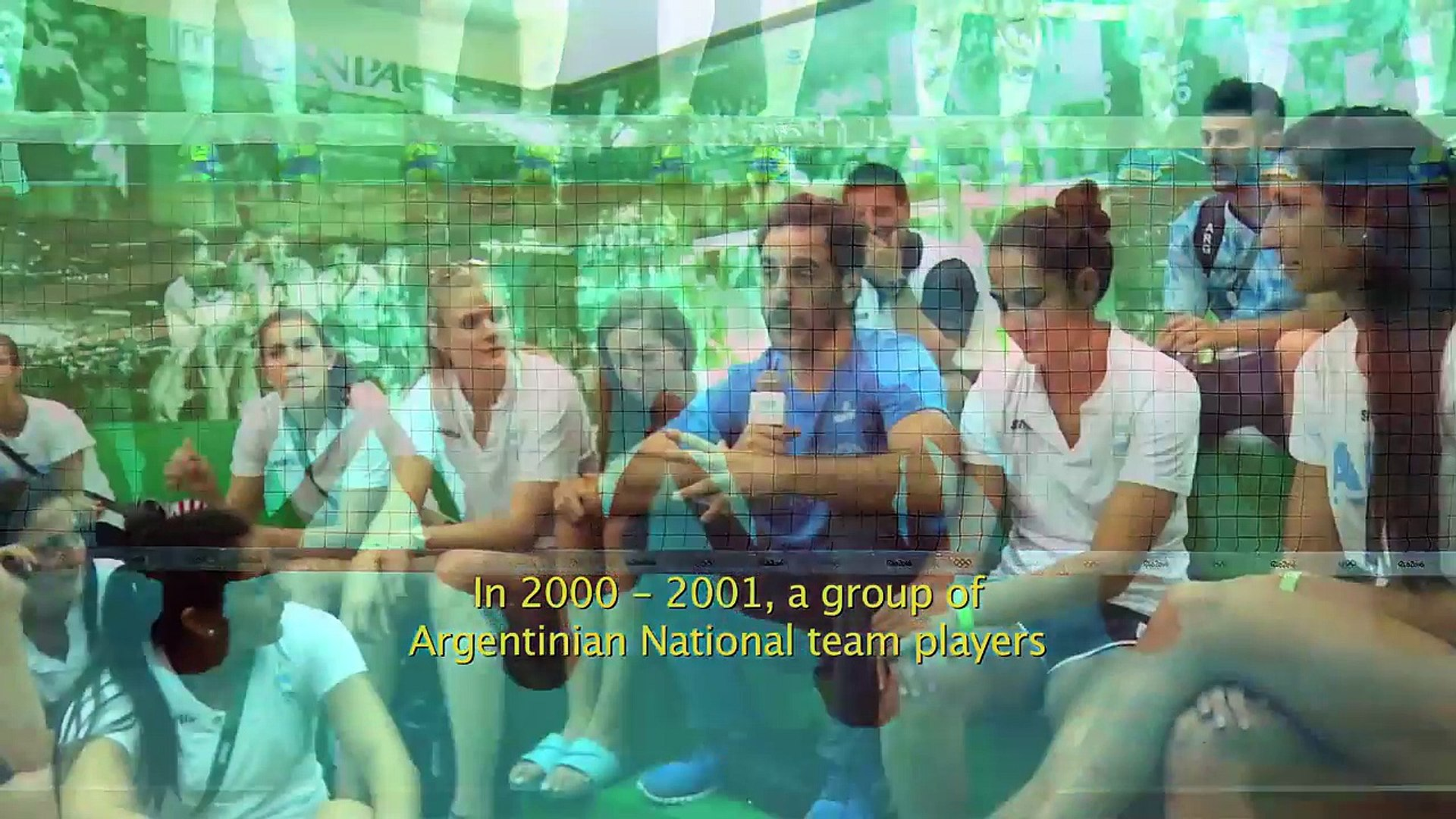 The Argentine Womens volleyball team, The Panthers, visits the volleyball house.
