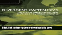 [Popular] Divergent Capitalisms: The Social Structuring and Change of Business Systems Hardcover