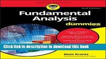 [Popular] Fundamental Analysis For Dummies Hardcover Online
