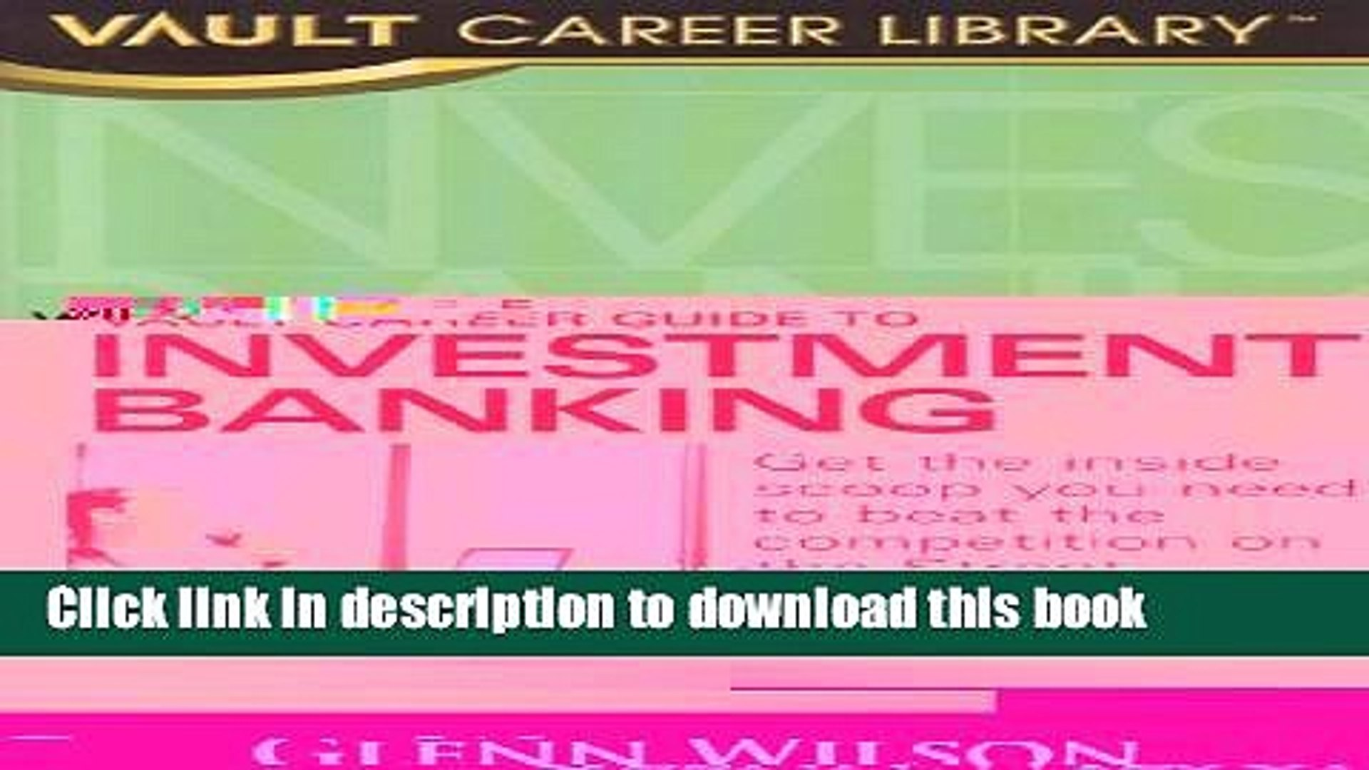 [Popular] Vault Career Guide to Investment Banking Hardcover Online