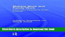 [Popular] Making Work and Family Work: From hard choices to smart choices Hardcover Free