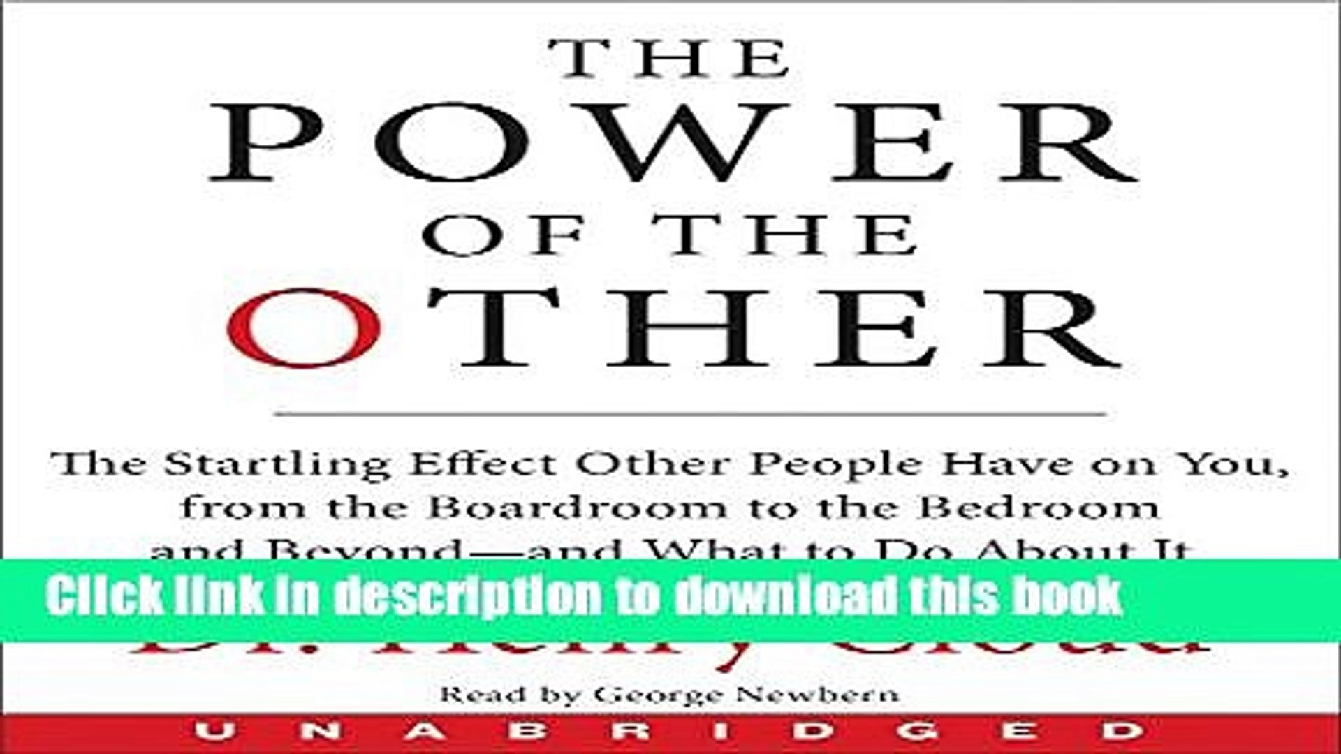 [Popular] The Power of the Other CD: The startling effect other people have on you, from the