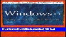 [Download] Windows++: Writing Reusable Windows Code in C++ Full Online