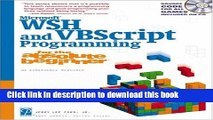 Download Microsoft WSH and VBScript Programming for the