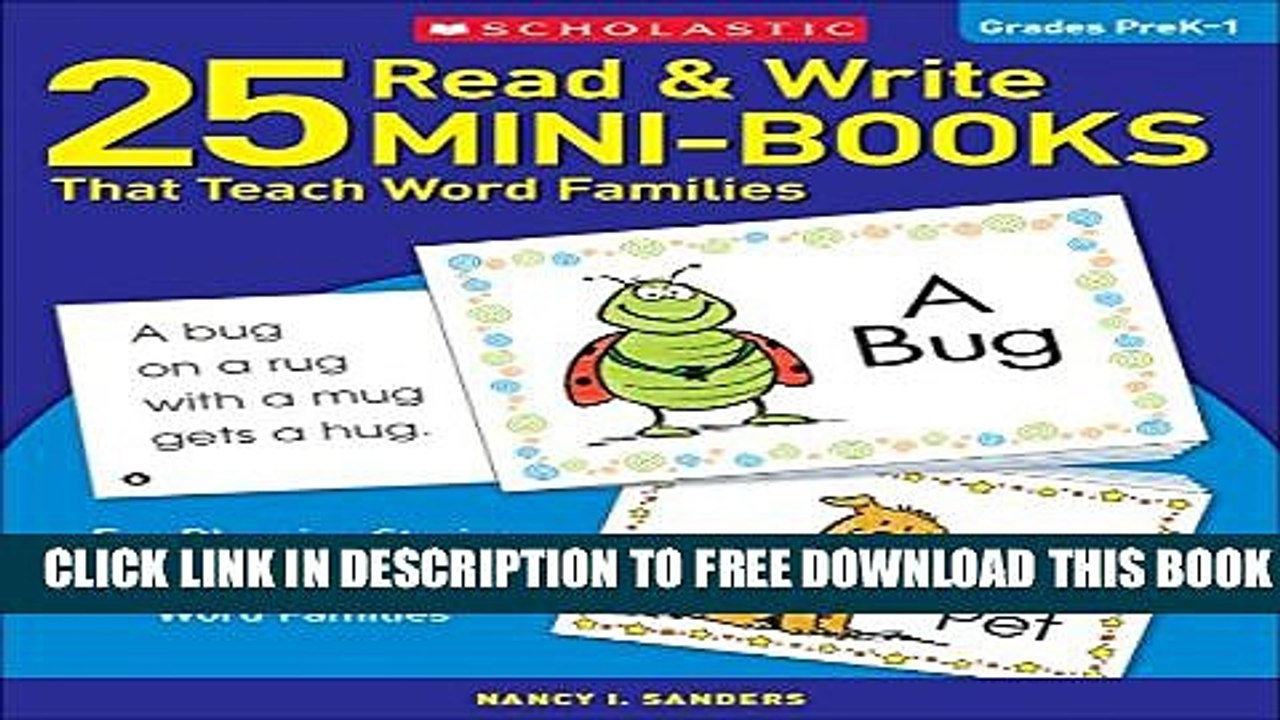 New Book 25 Read Write Mini-Books That Teach Word Families: Fun Rhyming  Stories That Give Kids