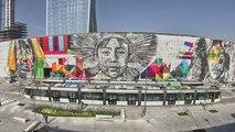 La plus grande fresque du monde se trouve à Rio