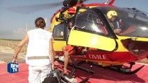 Les hélicoptères de la sécurité civile au secours des nageurs