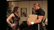 Stephanie McMahon & Triple H / Stephanie McMahon & Kurt Angle Backstage Raw 03.04.2002 (HD)