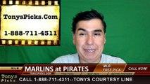 Pittsburgh Pirates vs. Miami Marlins Free Pick Prediction MLB Baseball Odds Series Preview