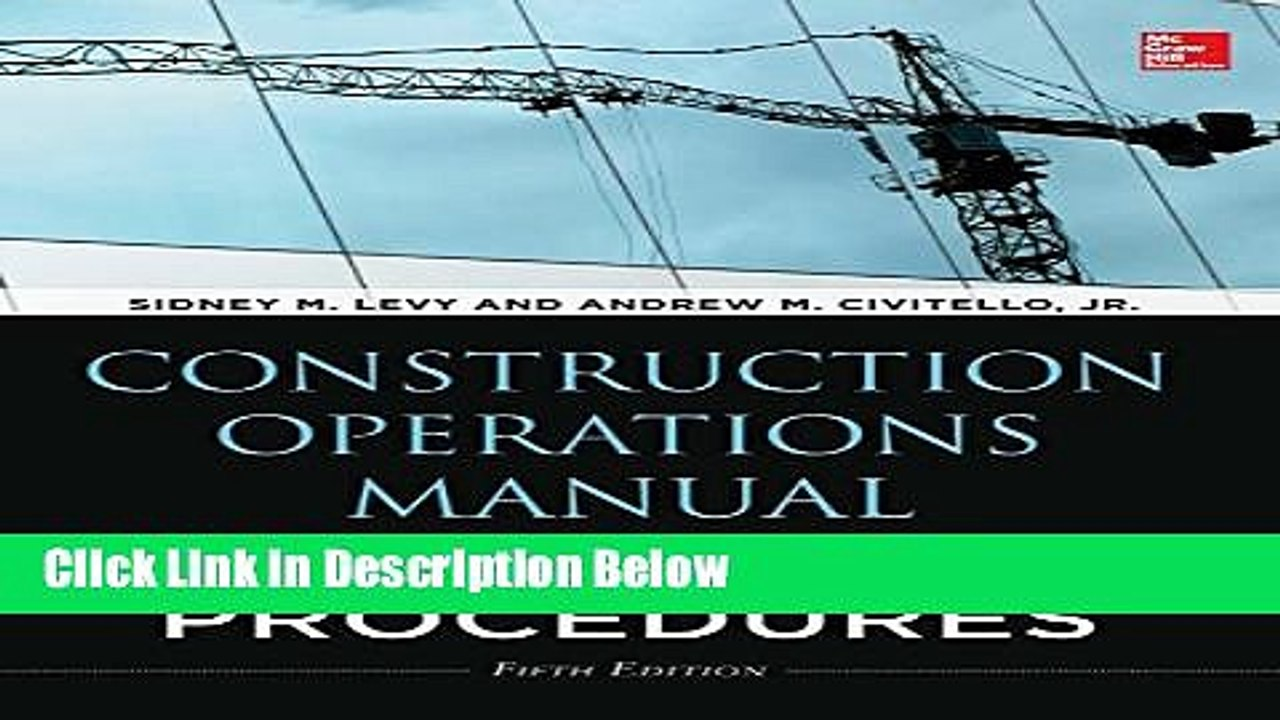 [PDF] Construction Operations Manual of Policies and Procedures, Fifth  Edition Ebook Online