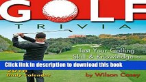 [Popular Books] Golf Trivia 2016 Boxed/Daily Calendar Free Online
