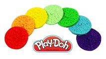 Play Doh Rainbow Cookie - Clay playdoh biscuit and cookie with peppa pig español toys