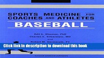 New Book Sports Medicine for Coaches and Athletes: Baseball (Sports Medicine for Coaches and
