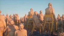 WTF : Des hommes nus sur des chaises en pleine mer