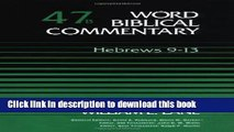 Collection Book Word Biblical Commentary, Vol. 47b, Hebrews 9-13