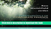 [PDF] Fundamentals of Corporate Finance Alternate Edition Full Colection