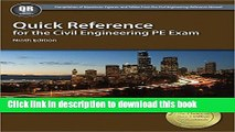 Collection Book Quick Reference for the Civil Engineering PE Exam, 9th Ed