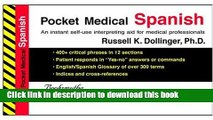 New Book Pocket Medical Spanish (Pocket Medical) (Pocket Medical) (Pocket Medical)