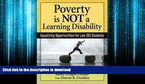 FAVORIT BOOK Poverty Is NOT a Learning Disability: Equalizing Opportunities for Low SES Students