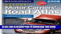 Read Now Rand McNally 2008 Deluxe Motor Carriers Road Atlas (Rand Mcnally Motor Carriers  Road