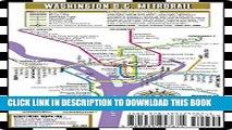 Read Now Streetwise Washington DC Metro Map - Laminated Washington DC Metrorail   Mall Map -