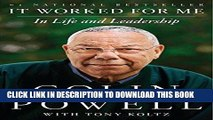 Ebook It Worked for Me: In Life and Leadership Free Read