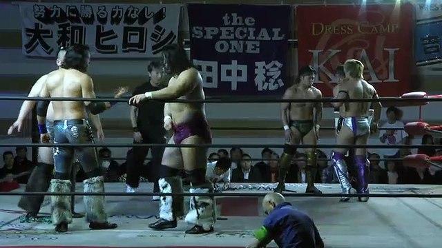 Kaz Hayashi, Minoru Tanaka & TAJIRI (c) vs. New Wild Order (W-1)