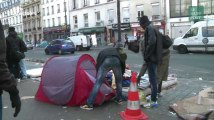 """À Paris, les camps de migrants gonflent après le démantèlement de la """"jungle"""" de Calais"""