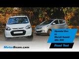 Hyundai Eon vs Maruti Suzuki Alto 800 - Road Test | MotorBeam