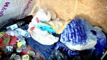 """Calais: les images de la """"Jungle"""" après le départ des migrants"""