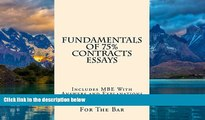 Books to Read  Fundamentals Of 75% Contracts Essays: 9 dollars 99 cents only! Electronic lending
