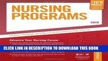 Ebook Nursing Programs - 2010: Advance Your Nursing Career (Peterson s Nursing Programs) Free