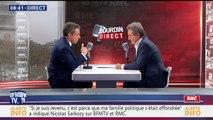Nicolas Sarkozy face à Jean-Jacques Bourdin en direct BFMTV