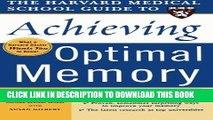 Best Seller Harvard Medical School Guide to Achieving Optimal Memory (Harvard Medical School