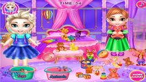 Disney Frozen baby Elsa and Anna Washing Toys   Frozen Elsa and Anna songs [gameplay]