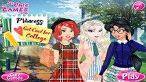 Princesses Get Cool For College - princess Elsa princess Ariel and Jasmine Dress Up Game for Kids