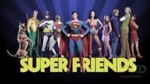 Live Action Super Friends 1973 Justice League : Superman, Batman, Wonder Woman, and Scooby Doo