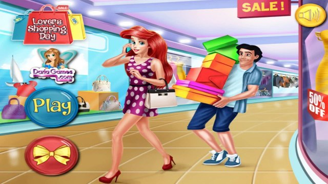 Disney Princess Games | Lovers Shopping Day | ariel and eric games For Kids
