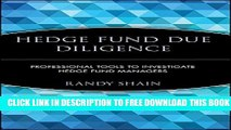 [PDF] Hedge Fund Due Diligence: Professional Tools to Investigate Hedge Fund Managers Popular Online