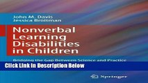 Ebook Nonverbal Learning Disabilities in Children: Bridging the Gap Between Science and Practice