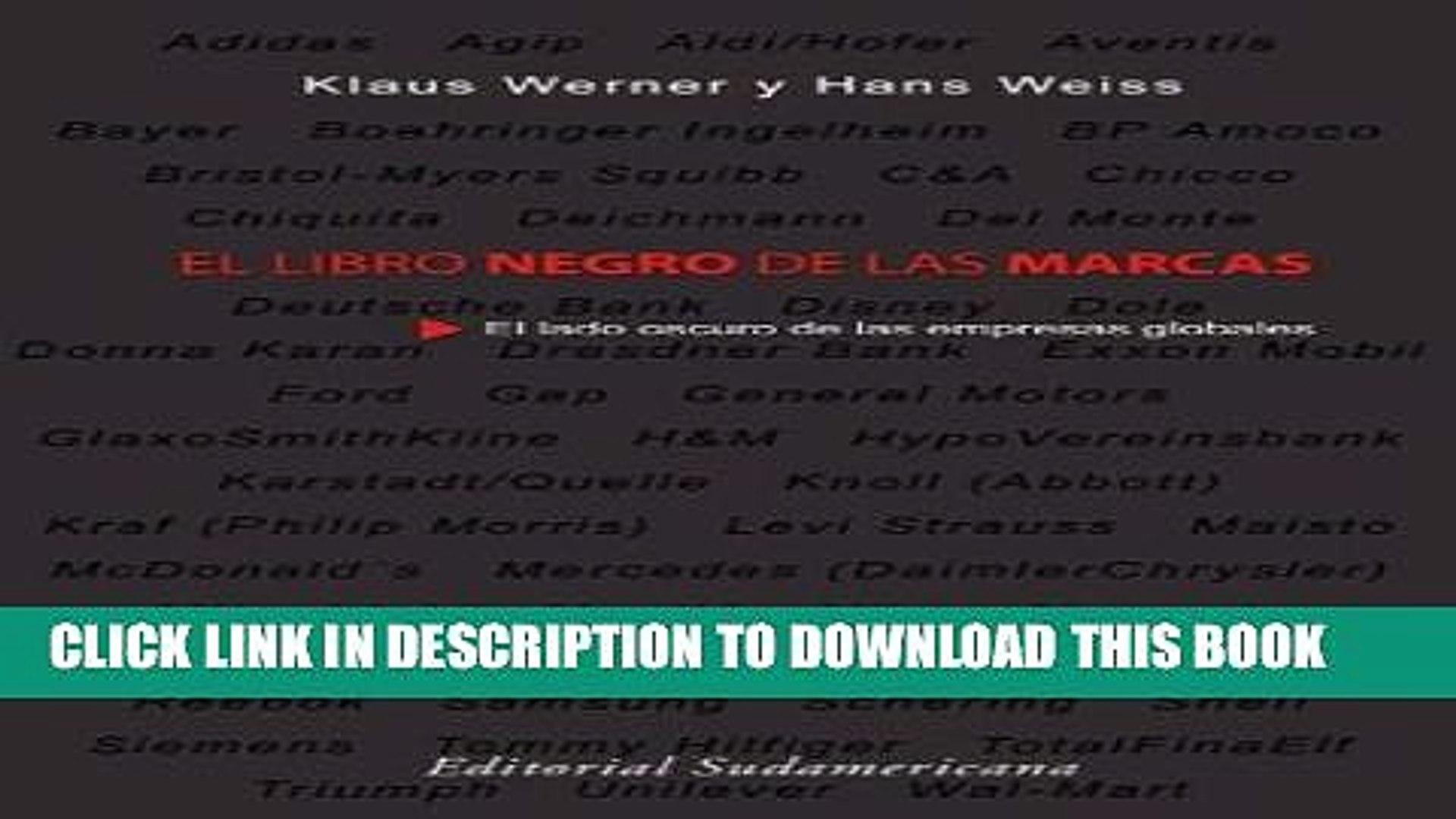 Pdf El Libro Negro De Las Marcas Spanish Edition Popular Colection Video Dailymotion