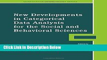 Books New Developments in Categorical Data Analysis for the Social and Behavioral Sciences