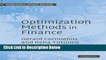 Download Optimization Methods in Finance (Mathematics, Finance and Risk) [Online Books]