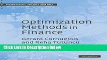[PDF] Optimization Methods in Finance (Mathematics, Finance and Risk) [Full Ebook]