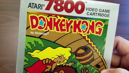 DONKEY KONG Atari 7800 packaging review by Classic Game Room