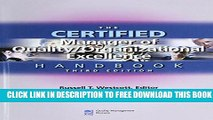 New Book The Certified Manager of Quality / Organizational Excellence Handbook