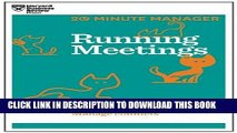 Collection Book Running Meetings (HBR 20-Minute Manager Series)