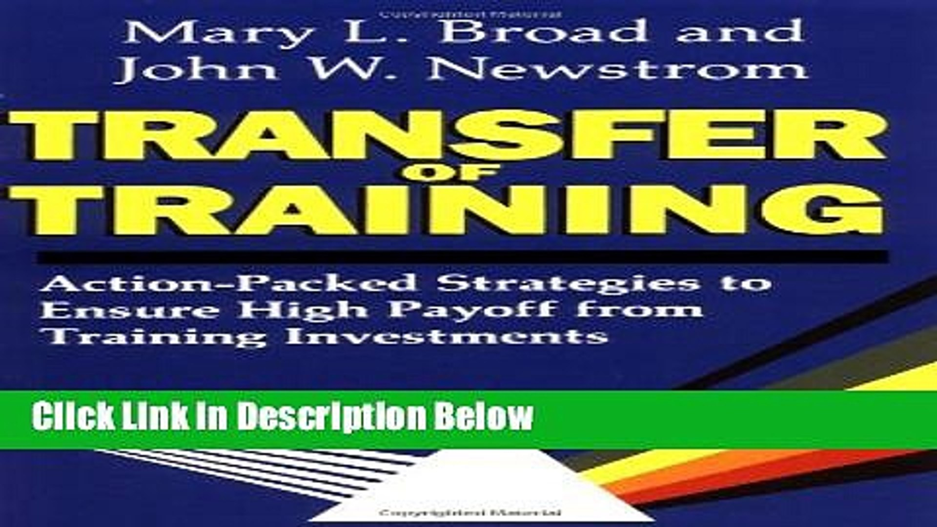 Download Transfer of Training Book Online